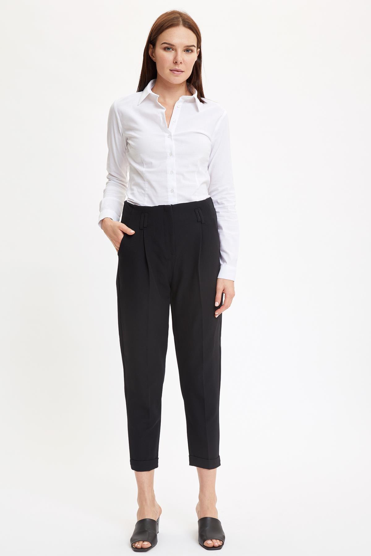 Defacto Basic Uzun Kollu Slim Fit Gömlek 1