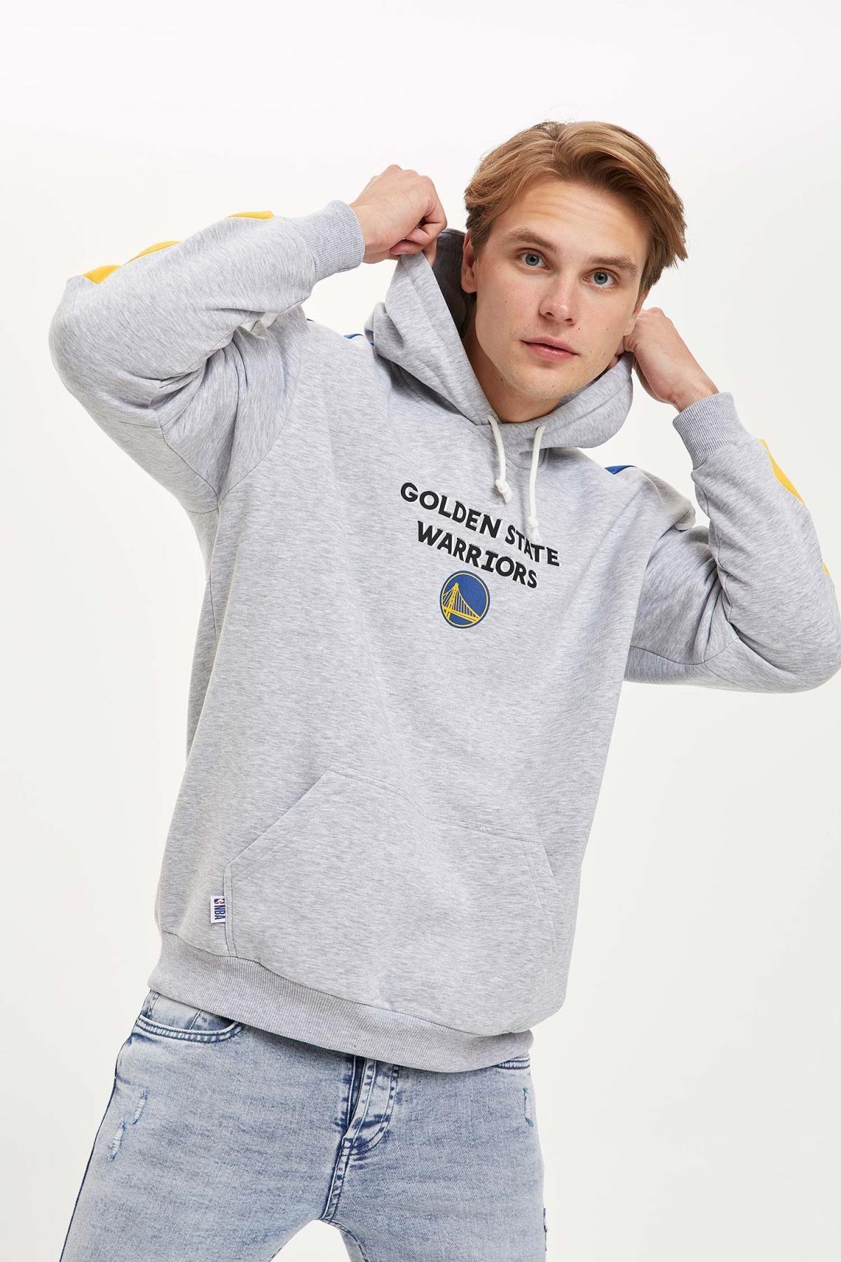 Defacto Fit Erkek Nba Lisanslı Unisex Over Size Fit Kapüşonlu Sweatshirt 0