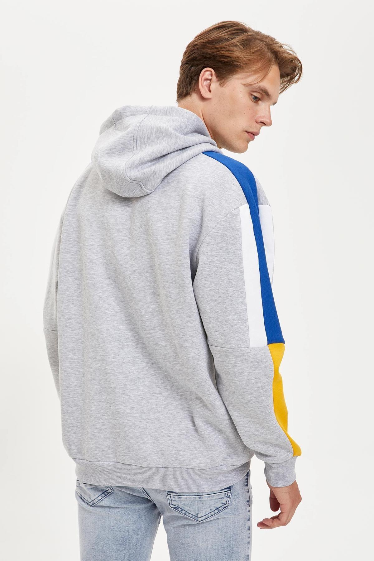 Defacto Fit Erkek Nba Lisanslı Unisex Over Size Fit Kapüşonlu Sweatshirt 4