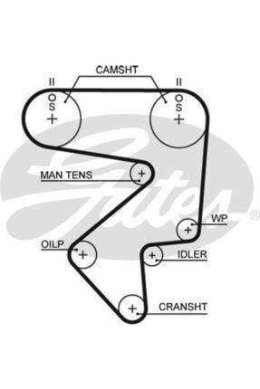 GATES Trıger Setı Toyota Carına E-celıca-mr2 2,0-16v-vvtı 89-00 0