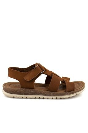Cici Bebe Ayakkabı Erkek Çocuk Kahverengi Sandalet 0