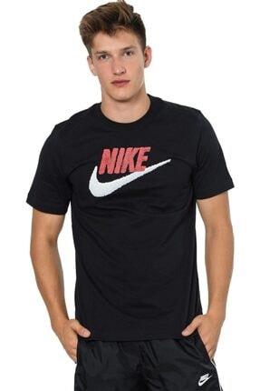 Nike Erkek Siyah Günlük Stil T-shirt Brand Mark  Ar4993-013 0