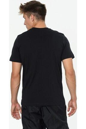 Nike Erkek Siyah Günlük Stil T-shirt Brand Mark  Ar4993-013 2