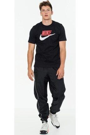 Nike Erkek Siyah Günlük Stil T-shirt Brand Mark  Ar4993-013 3