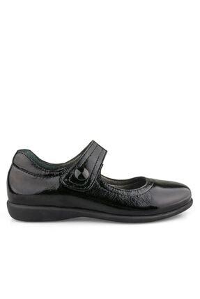 Kız Cocuk Siyah Rugan Deri Ayakkabı 100130K