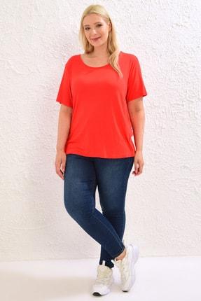 LC Waikiki Kadın Canlı Kırmızı Tişört 0WCC59Z8 2