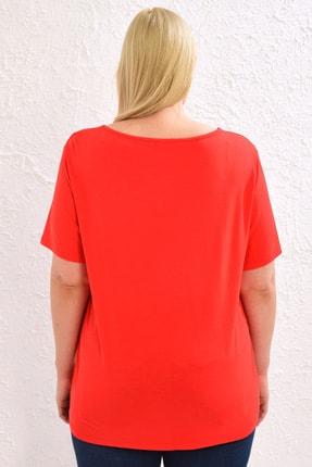 LC Waikiki Kadın Canlı Kırmızı Tişört 0WCC59Z8 3