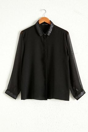 LC Waikiki Kadın Siyah Gömlek 0WDK70Z8 0