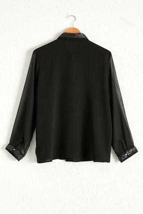 LC Waikiki Kadın Siyah Gömlek 0WDK70Z8 1