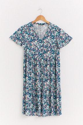 LC Waikiki Kadın Yeşil Baskılı Elbise 0WET32Z8 0