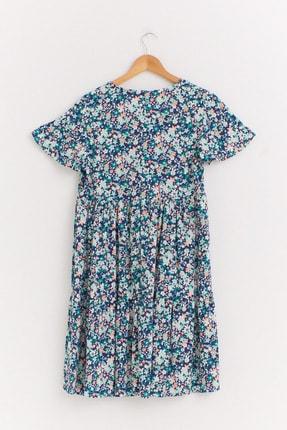 LC Waikiki Kadın Yeşil Baskılı Elbise 0WET32Z8 1