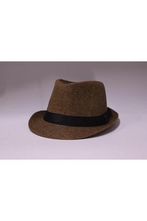 şapka dünyası Unisex Kahverengi Hasır Fötr 0
