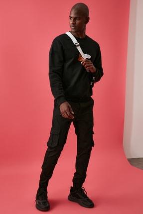 TRENDYOL MAN Siyah Erkek Kargo Jogger Pantolon TMNAW20PL0633 2