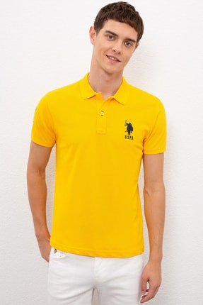 US Polo Assn Sarı Erkek T-Shirt 0
