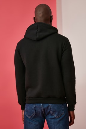 TRENDYOL MAN Siyah Erkek Baskılı Sweatshirt TMNAW21SW0476 4