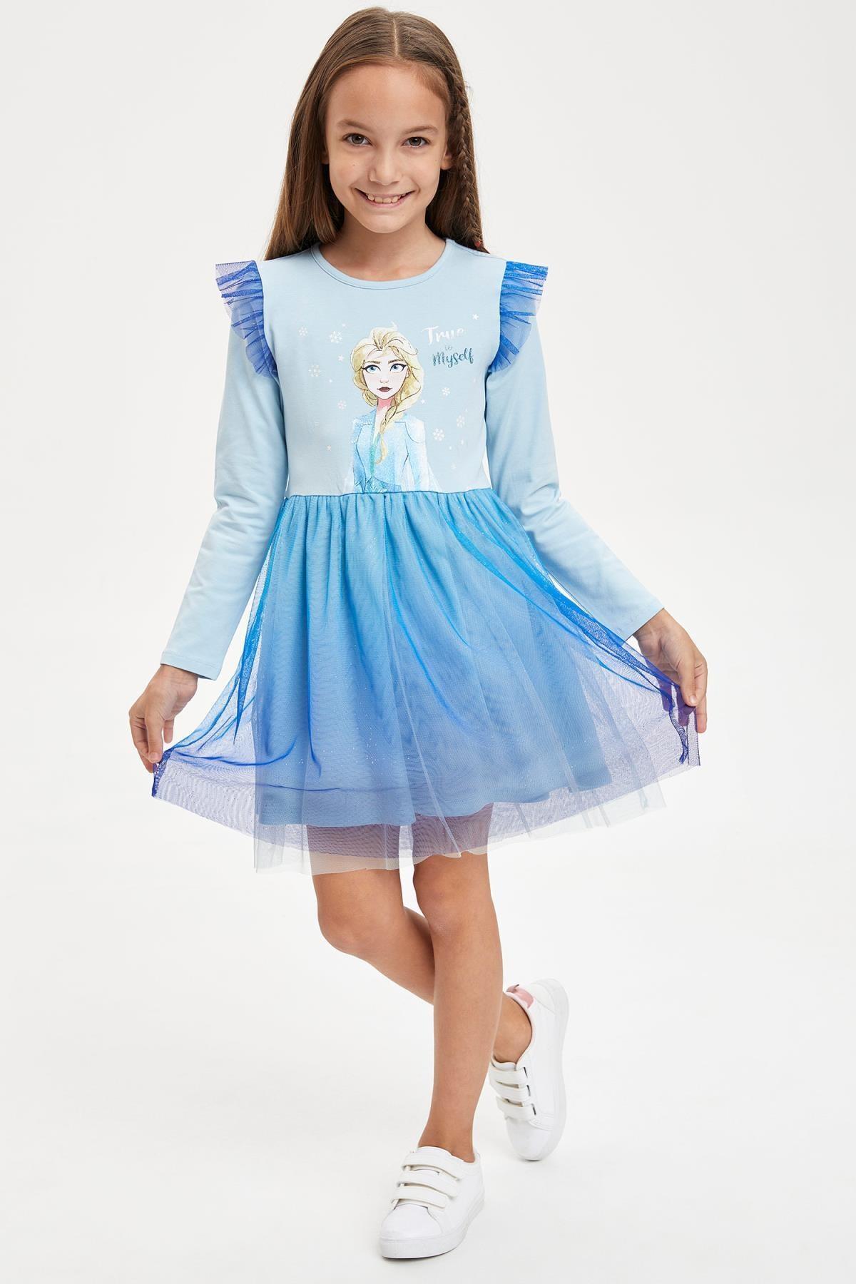 Defacto Frozen Lisansli Orme Elbise Trendyol