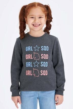 Defacto Kız Çocuk Baskılı Sweatshirt 1