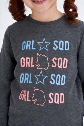 Defacto Kız Çocuk Baskılı Sweatshirt 2