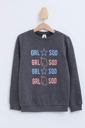 Defacto Kız Çocuk Baskılı Sweatshirt 3