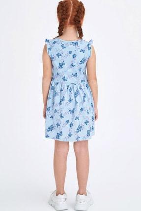 Defacto Baskılı Fırfır Detaylı Örme Elbise 3