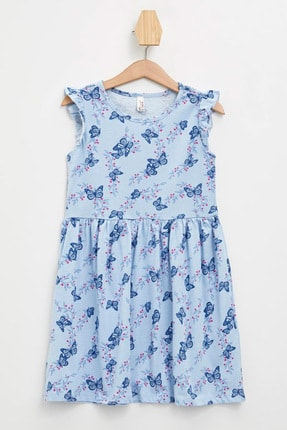 Defacto Baskılı Fırfır Detaylı Örme Elbise 4