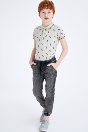 Defacto Erkek Çocuk Gri Kot Pantolon 0