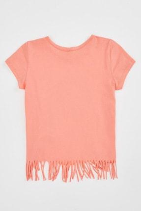 Defacto Kız Çocuk Unicorn Baskılı Püskül Detaylı Kısa Kollu T-shirt 4