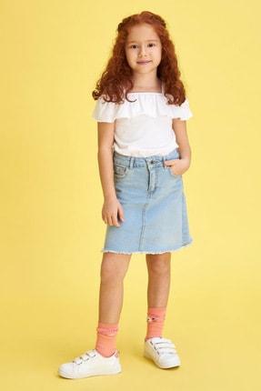 Defacto Kız Çocuk Ince Askılı Volanlı Bluz 1