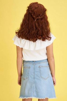 Defacto Kız Çocuk Ince Askılı Volanlı Bluz 3