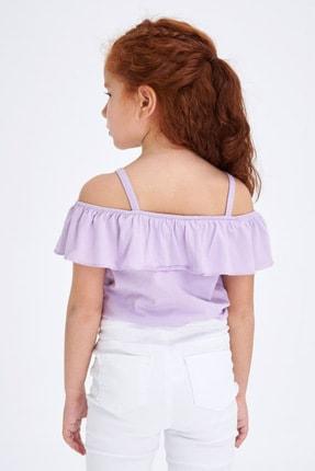 Defacto Kız Çocuk Askılı Fırfırlı Bluz 2