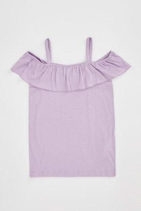Defacto Kız Çocuk Askılı Fırfırlı Bluz 3