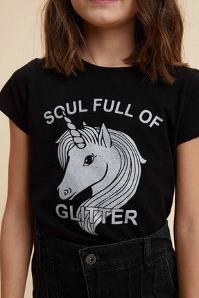Defacto Unicorn Baskılı Kısa Kollu T-shirt 2