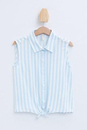 Defacto Kız Çocuk Bağlama Detaylı Çizgili Kolsuz Gömlek 3