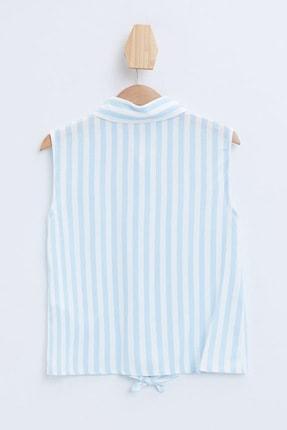 Defacto Kız Çocuk Bağlama Detaylı Çizgili Kolsuz Gömlek 4