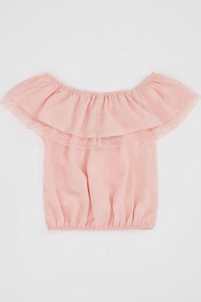 Defacto Kız Çocuk Omuzu Açık Bluz 4