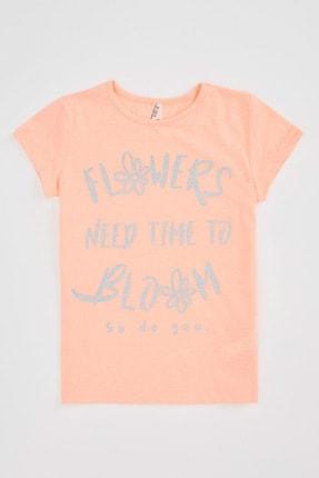 Defacto Kız Çocuk Baskılı Kısa Kollu T-shirt 0