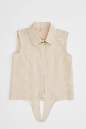 Defacto Kız Çocuk Bağlama Detaylı Kolsuz Gömlek 0