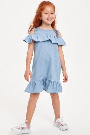 Defacto Kız Çocuk Mavi Kot Elbise 1