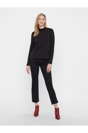 Vero Moda Kadın Siyah Yaka Detaylı Sweatshirt 10206533 VMFOREST 2