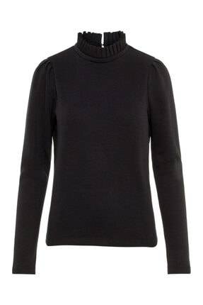 Vero Moda Kadın Siyah Yaka Detaylı Sweatshirt 10206533 VMFOREST 4