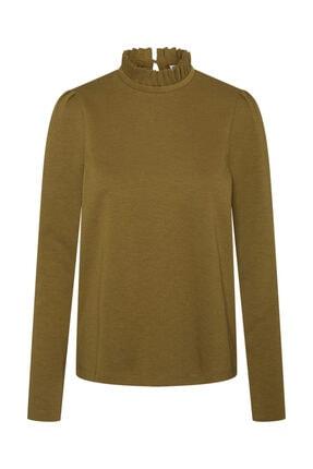 Vero Moda Kadın Yeşil Yaka Detaylı Sweatshirt 10206533 VMFOREST 1