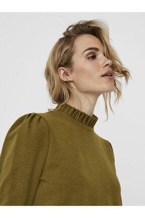Vero Moda Kadın Yeşil Yaka Detaylı Sweatshirt 10206533 VMFOREST 4