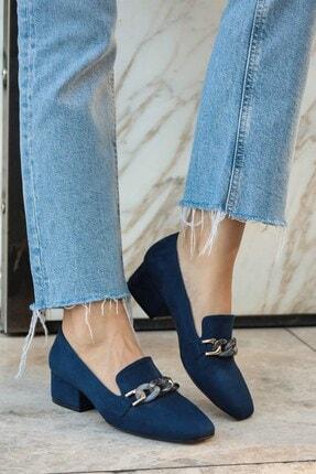 Mio Gusto Magnolia Lacivert Topuklu Ayakkabı 0