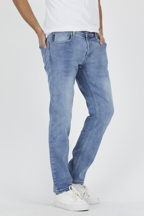 DAMGA JEANS Erkek Açık Mavi Rahat Kesim Pantolon 0