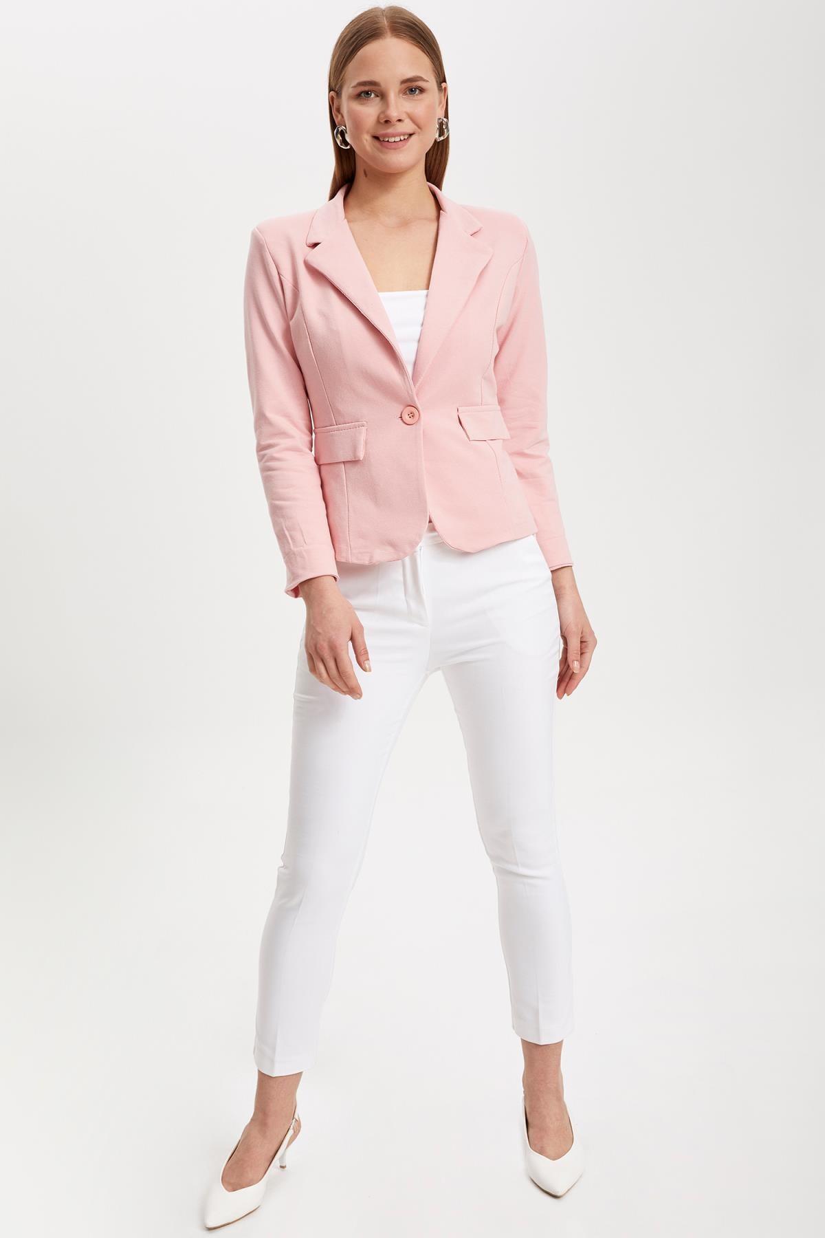 Defacto Kadın Pembe Blazer Ceket L1969AZ.19SM.PN368 1