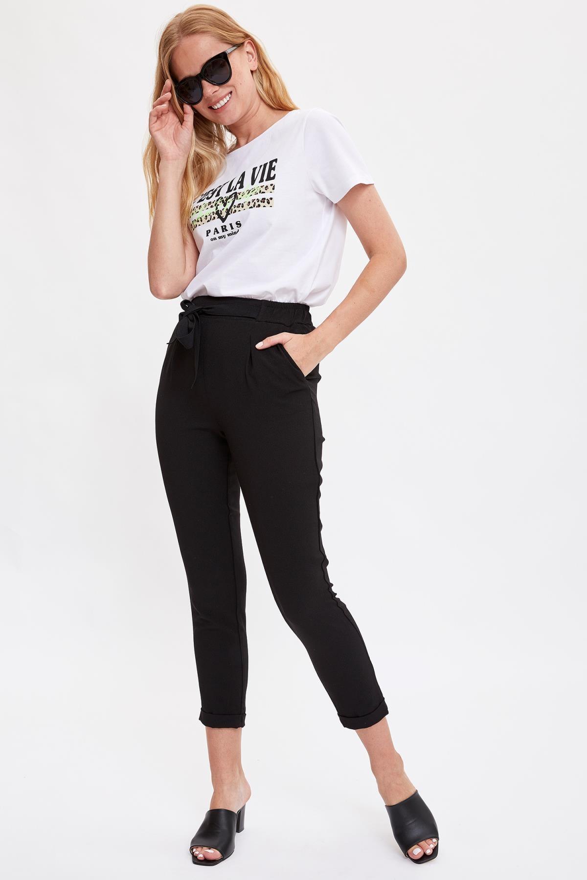 Defacto Kadın Beyaz Baskılı Kısa Kollu T-shirt L7702AZ.19HS.WT34 1