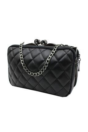 Sanmorris 5003 Kadın Çapraz Çanta Bayan Çanta Siyah-siyah 0