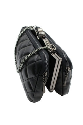 Sanmorris 5003 Kadın Çapraz Çanta Bayan Çanta Siyah-siyah 2