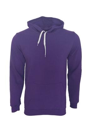Raf Coll Unisex Basic Cepli Mor Kapşonlu Sweatshirt 0