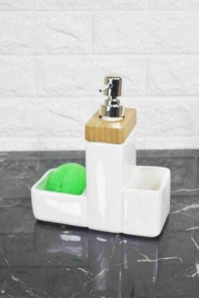 Sıvı Sabunluk Porselen Bambulu TR-250 BAMBOO SIVI SABUNLUK SETİ